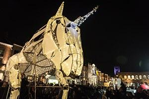 La parade lumineuse de Noël
