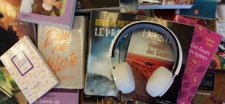 Livre audio à la bibliothèque