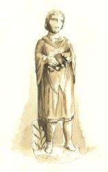 Enfant avec chien, Espace gallo romain d'Ath
