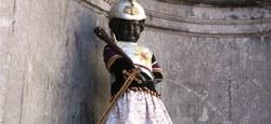 Manneken Pis rend hommage à Goliath