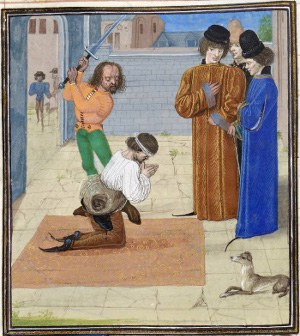 Execution of Robert Tresilian in medieval miniature