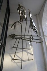 Goliath sculpture métallique de l'artiste Xavier Parmentier