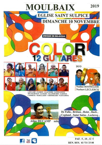 affiche color 12 guitares 2k19