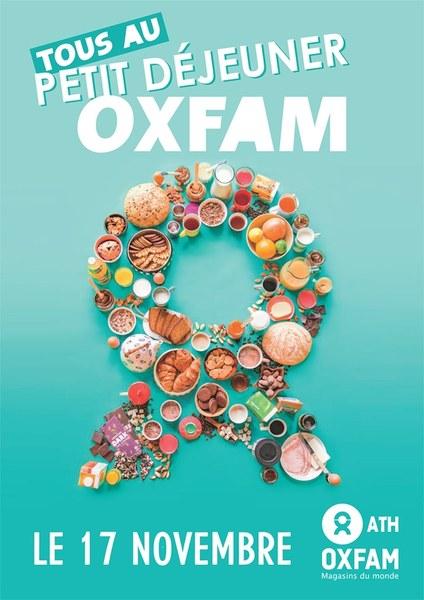 affiche petit dej oxfam 2k19