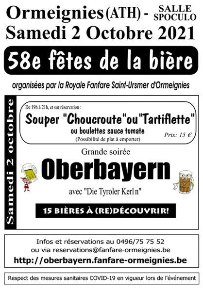 affiche fete de la biere d'Ormeignies
