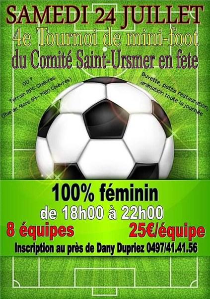 Affiche minifoot feminin du comité saint ursmer