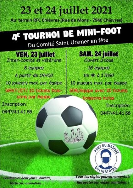 Affiche 4e tournoi mini-foot du comité Saint-Ursmer