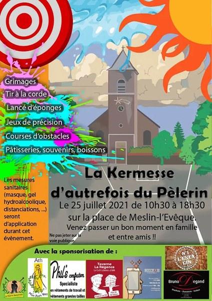 Affiche de la kermesse d'autrefois du Pèlerin
