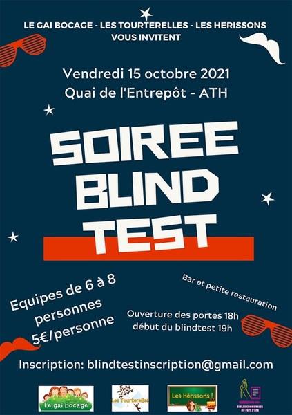 Affiche blind test chanson