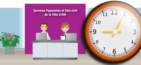 Services Population - Etat civil : Horaire d'été
