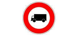 Limitation de tonnage et de vitesse le long de la chaussée de Valenciennes