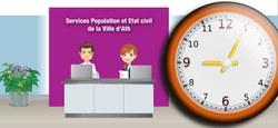 Services Population - Etat civil : Horaire d'été (rappel)