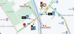 Fermeture partielle du carrefour du Boulevard du Parc avec les Chaussée de Bruxelles et rue Defacqz