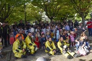 Départ des pompiers vers leur nouvelle caserne