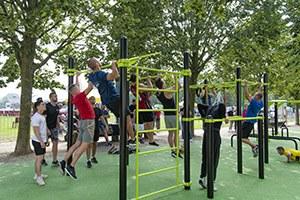Inauguration du parc de street workout