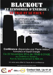 affiche conference black out