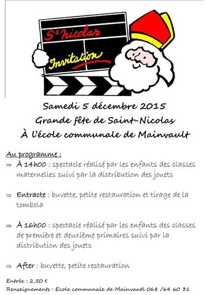 affiche st nicolas ec mainvault 2015
