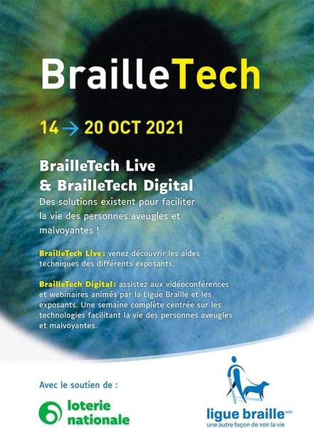 affiche braille tech live et digital