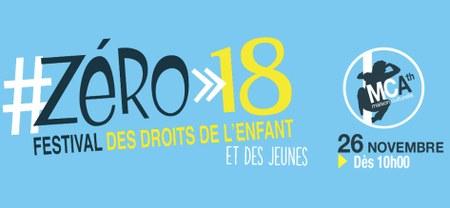 Festival Zéro-18, c'est ce 26 novembre.