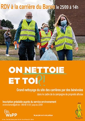 affiche bénévoles ramassent déchets