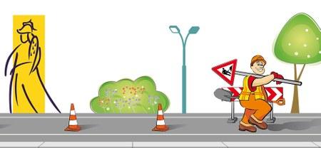 Travaux de rabotage et  d'asphaltage sur la N7